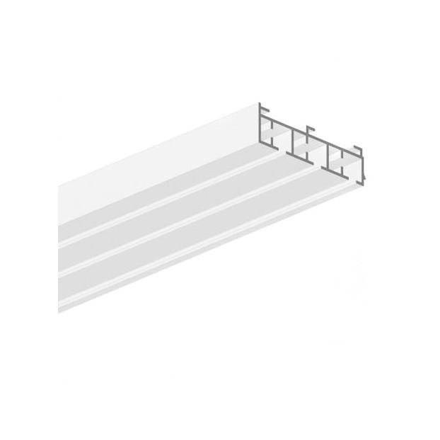 Szyna sufitowa 3-torowa biała wizualizacja