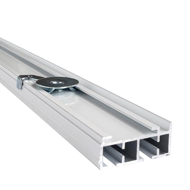 Szyna Sufitowa Aluminiowa 2-Torowa Biała Uchwyt Mocujący