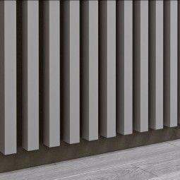 Panel dekoracyjny - Lamele - Szary