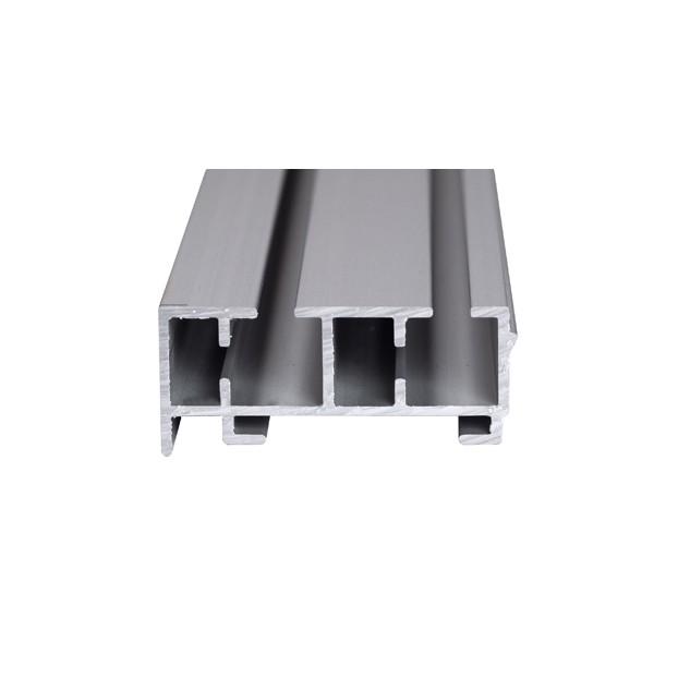 Szyna Sufitowa Aluminiowa 2-torowa - Chrom-mat - Profil