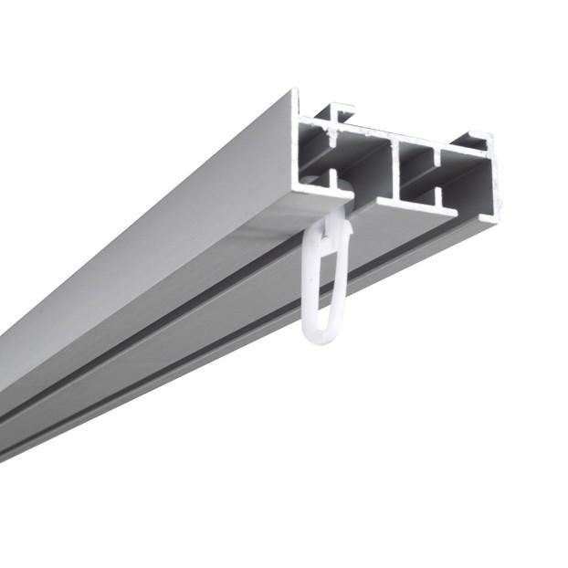 Szyna Sufitowa Aluminiowa 2-torowa - Chrom-mat z agrafką