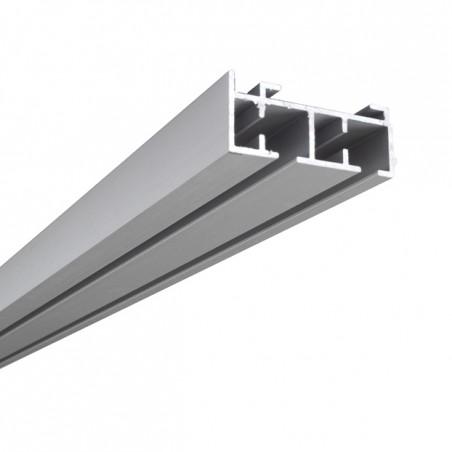 Szyna Sufitowa Aluminiowa 2-torowa - Chrom-mat
