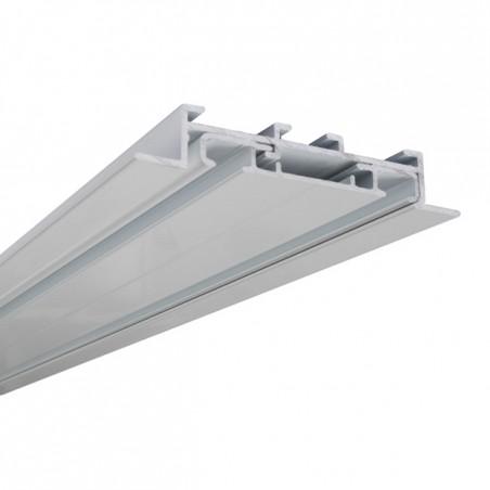 Szyna Sufitowa Podtynkowa z Profilem Rynny 2-torowa Aluminiowa