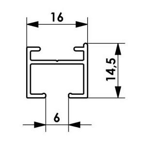 Wymiary szyny sufitowej prostej pojedynczej aluminiowej