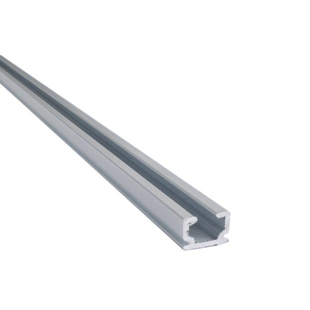 Widok od góry - Szyna Sufitowa Slim 1-torowa - Biała Jednotorowa Aluminiowa