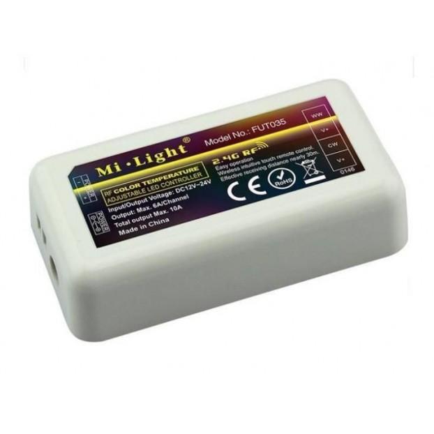 Sterownik RF LED CCT ODBIORNIK FUT035 strefowy WiFi 2.4GHz 6A 144W
