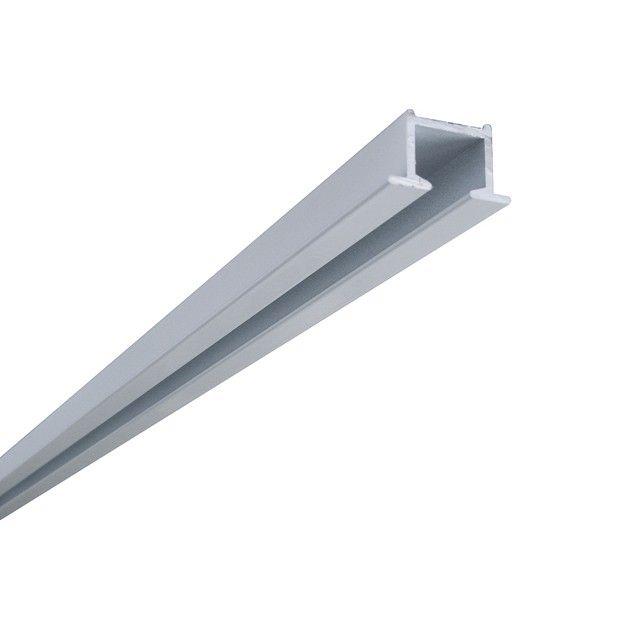 Karnisz Podtynkowy - Szyna Sufitowa 1-torowa - Biała Aluminiowa