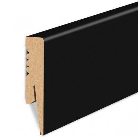 100/16 mm - Listwa Przypodłogowa Czarna MDF - Standard 2