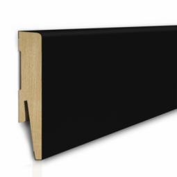 80/16 mm - Listwa Przypodłogowa Czarna MDF - Standard 2