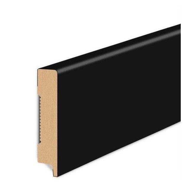60/12 mm - Listwa Przypodłogowa Czarna MDF - Standard 2