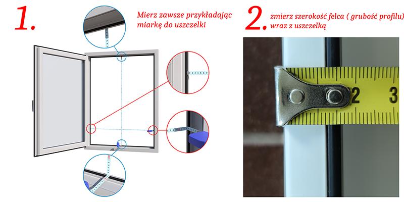 Jak mierzyć okno do moskitiery?